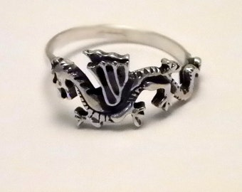 Silver   DRAGON RING   925 Sterling Handcrafted Fantasy Ring