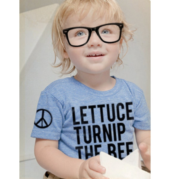 lettuce turnip the beet - light blue eco-heather shirt - baby and toddler sizes