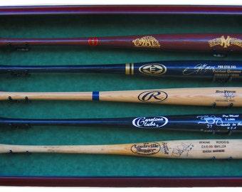5 baseball bat display case