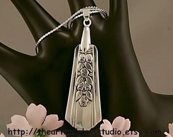 Silver Spoon Pendant ROSALIE Jewelry Necklace Vintage, Silverware, Gift, Anniversary, Wedding, Birthday