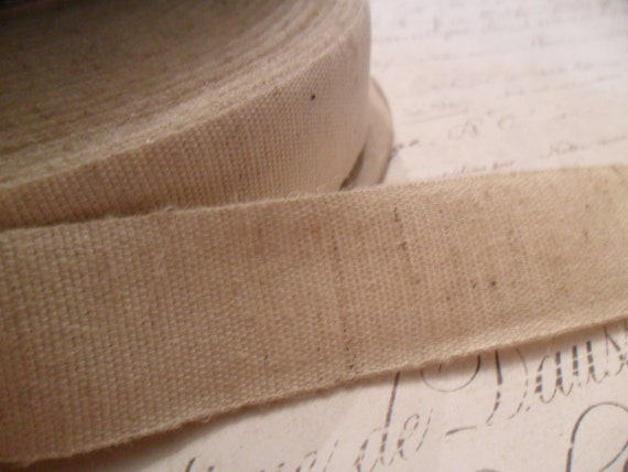 Organic Cotton and Hemp Blend  Natural 7/8 inches wide