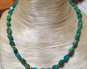 Highest quality Peruvian Opal and 18k gold beaded necklace