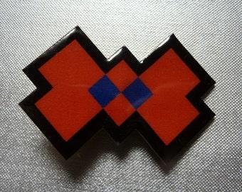 8 bit bow - pixellated headband or clip