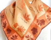 Vera's Leaf Collection - a vintage 1960's Vera Neumann hand-painted scarf