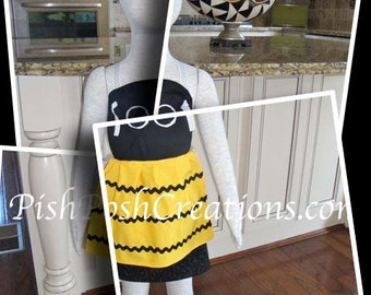 Bumble Bee Apron  Toddler Size