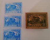 Postage rubber stamp - US Parcel Post gently used