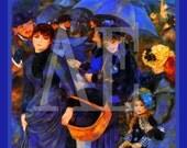 PR-131 Artistic Ephemera 8 x 10 Print - Pierre Auguste Renoir - The Blue Umbrellas - Also Available as Small Prints and Postcards