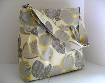 Large Diaper Bag - Amy Butler Optic Blossom - Messenger Bag - Diaper Bag - Crossbody