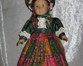 OOAK Afternoon Tea Gown and Bonnet for American Girl Doll with  Accessories