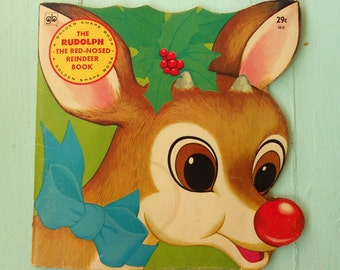 Vintage Rudolph The Red-Nosed Reindeer Children's Book Copyright 1972 from Golden Press Christmas