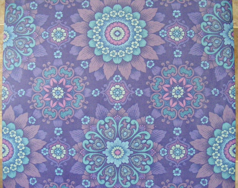 Vintage Wallpaper Purple Alhambra Wall Vinyl Paper Violet