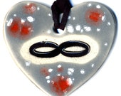 Infinity Ceramic Necklace in Spotted Gray