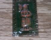 Old World Father Christmas Tile