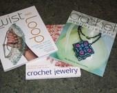 Three crochet jewelry books
