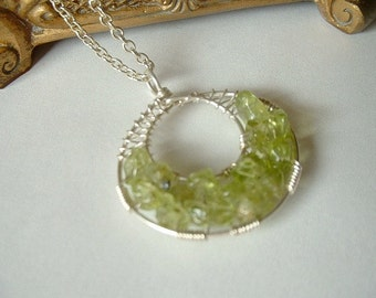 Peridot Goddess Wrap Necklace Petite