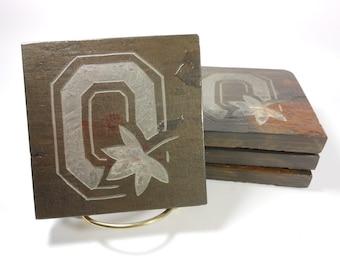 Stone Coasters Ohio - State Coasters - Slate - Buckye Fan, Football Gift, Sports Decor, Ohio State Fan Gift, Gift for Him