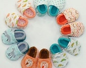 Cloth Baby Shoes, Baby Booties, Soft Crib Shoes - Les Amis - Custom