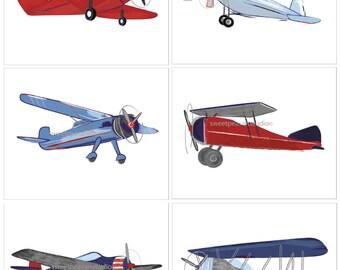Airplane Decor, Airplane Nursery, Airplane Art, Vintage Airplane Nursery, Vintage airplane decor, Pick your set size