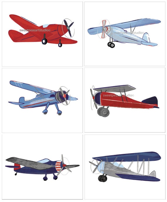Airplane decor airplane nursery airplane art vintage for Aircraft decoration
