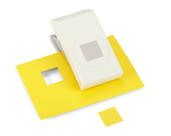 New EK Success 1 Inch SQUARE  Lever Punch. Slim and Compact Paper Punch.