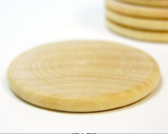 "1"" Craft Wood Circles for Pendants, Magnets, Scrapbooking, and More. 25 Pack."