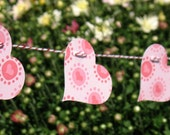 Pink Heart Strings - Decorative Garland