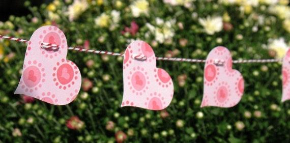 Pink Heart Strings - Decorative Garland