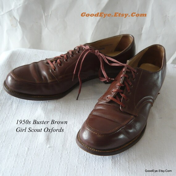 Genuine Buster Brown Girl Scout Oxford Shoes 8 5 Aa Official