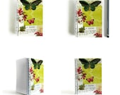Green Butterfly - Notepad Spiral Bound - 4x6in