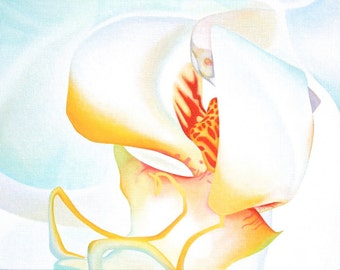 pure orchid UNFRAMED original painting acrylic