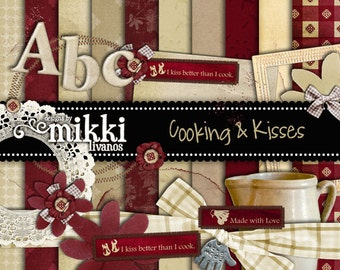 Digital Scrapbook Kit- Cooking & Kisses