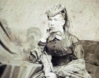 vintage photo CDV young Woman Titusville PA