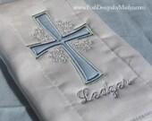 Personalized Cross Burp Cloth