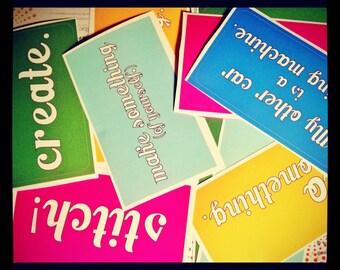 Crafty Bumper Stickers 5-pack