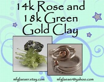 Half Order 18k Green Gold Clay and Half Order 14k Rose Gold Clay