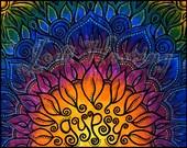 Beadworx - Signed Original Fine Art Print - 11x14 - Gypsy Lotus