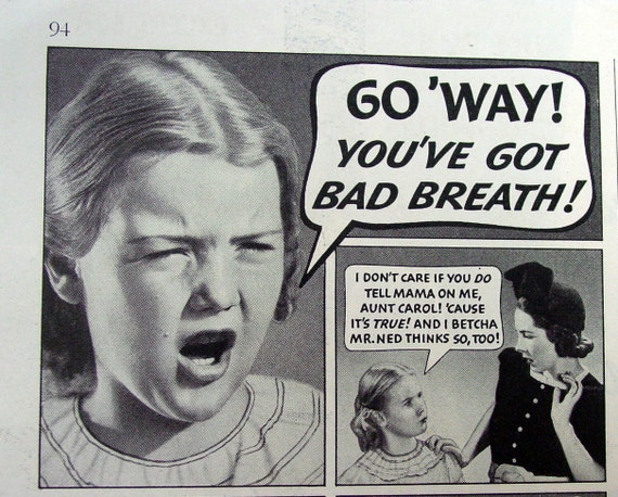 go away you have bad breath 1938 illustrated by. Black Bedroom Furniture Sets. Home Design Ideas