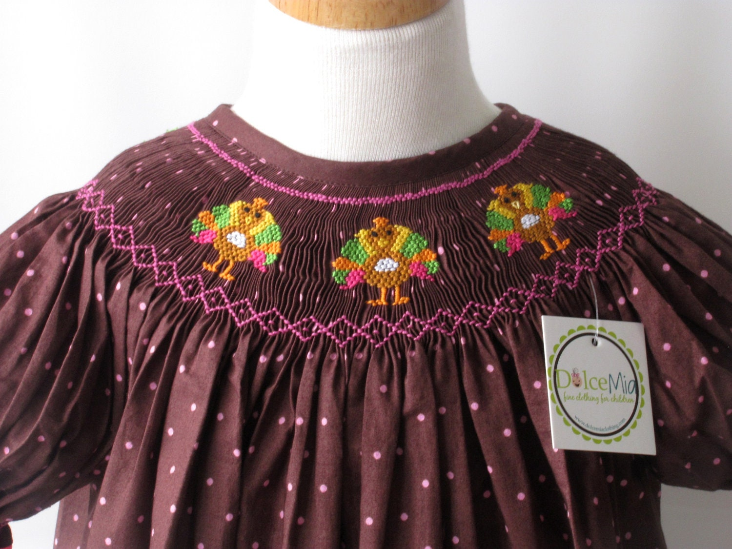 Turkey Thanksgiving Smocked Dresses For Girls And By
