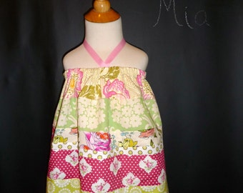 SAMPLE - Halter dress or top - Will fit Size 12-24 month up to 5T - by Boutique Mia - Ready To Ship