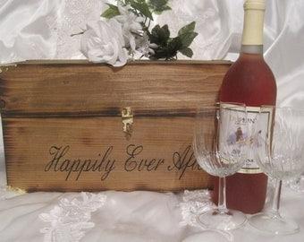 Wedding Wine Box Ceremony Time Capsule Keepsake Love Letter Card Box woodland country style