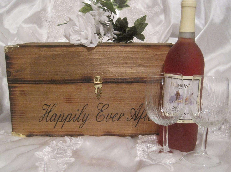 Wedding Wine Box Ceremony Time Capsule Keepsake Love Letter