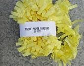 Light Yellow Crepe Paper Garland, Graduation Festooning Garland, Paper Fringe, Baby Shower Fringe, Baby Birthday Garland, Pinata Fringe