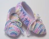 """Pretty Pastels - Pink,Yellow, White, Blue 12/13 (5 1/2""""  14cm) Girl's Handmade Cotton  Ballet  House Slippers - Ready to Ship"""