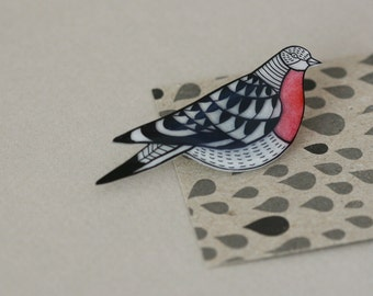 Extinct Birds - Passenger Pigeon - Pin