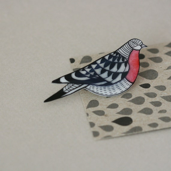 Extinct Birds - Passenger Pigeon - Pin