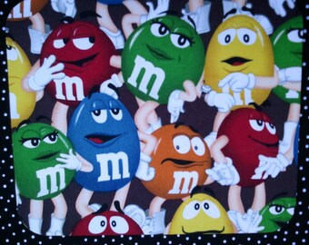 Fabric Computer Mousepad Made With M&Ms Fabric