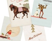 Unique Christmas Card Set- Digital PDF Cards for Download and Print