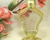 Vintage KISMET French Perfume  Gold Filigree Bottle