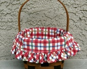 Vintage Longaberger Resolution Basket from 1987 with Liner