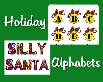 Holiday Alphabets Silly Santas and Holly Bells